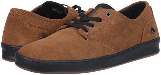 Emerica Men's The Romero Laced Skate Shoe tan black