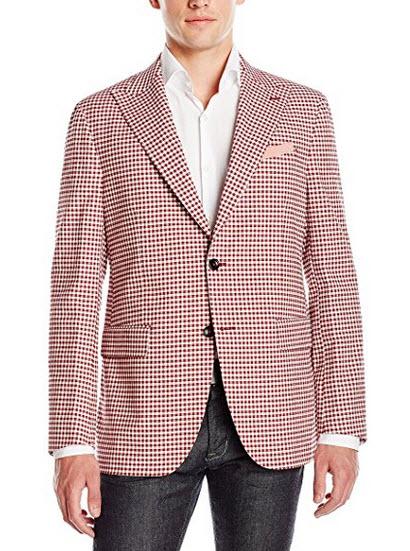Ernest Hemingway Men's Check Plaid Sportcoat.