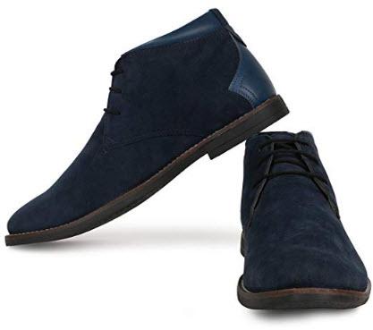 Escaro New York Suede Casual Chukka Boots for Men blue