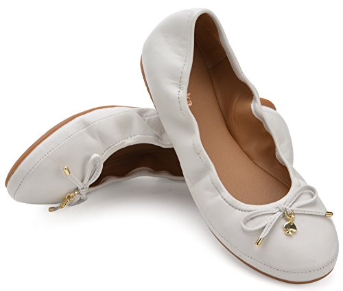 Eureka USA Women's Universe Leather Ballet Flat