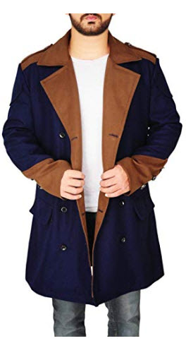 ewestt Wool Coats Pure Color Casual Fashion for Men