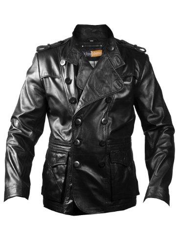 FactoryExtreme Slick Strut Mens Black or Dark Brown Leather Jacket