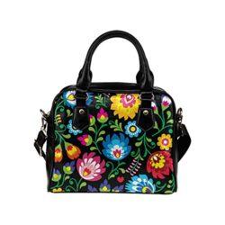 Fantasy Design Flowers And Tiger PU Leather Fashion Shoulder Handbag Tote Bag For Women Girls by ...