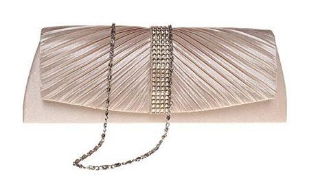 FASHIONROAD Evening Clutch, Womens Rhinestone Pleated Clutch Purses, Handbag for Wedding & P ...
