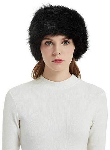 Faux Fur Headbands Outdoor Ear Warmers Earmuffs Ski Hat Winter Warm Elastic Hairbands Head Wraps ...