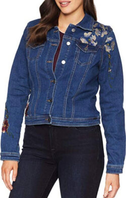 FDJ French Dressing Jeans Womens Embroidered Denim Jacket, indigo