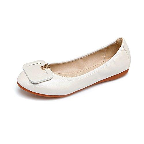 Feilongzaitianba Egg Rolls Women'S Flats Flat Ballet Flat Bottom Comfort Soft Pregnant Wom ...