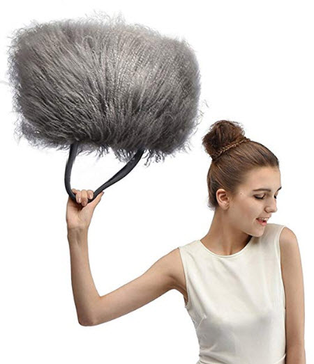 Finiluo luxury real lamb fur/mongolian fur beach wool fur bag handbag gray