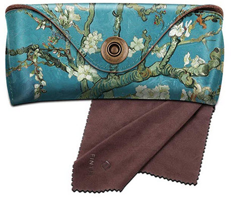 Fintie Portable Sunglasses Case, Semi-Hard Vegan Leather Glasses Carrying Case Eyewear Pouch wit ...