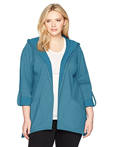 Fit for Me by Fruit of the Loom Women's Plus Size Fit Active Hoodie Cardigan