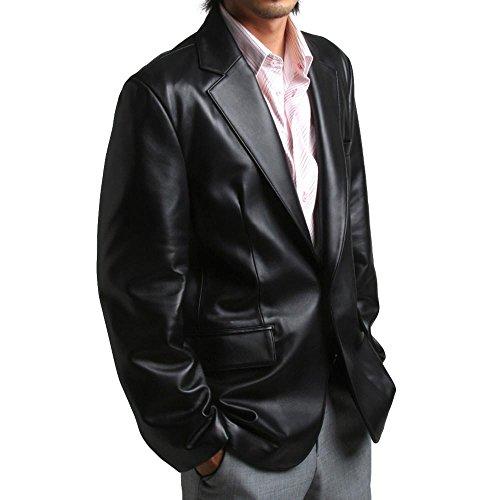 FLATSEVEN Mens Genuine Leather Jacket Sheepskin Blazer one button