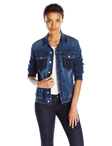 7 For All Mankind Women's Denim Jacket With Shadow Pockets