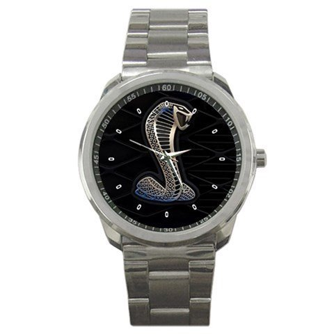 Ford Mustang Cobra Logo Sport Metal Watch Special Edition by The A-Watch Shop