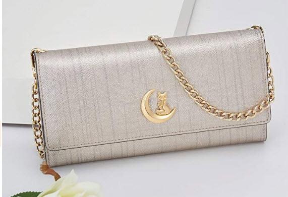 FOXER Women Leather Wallet Bifold Wallet Clutch Wallet with Wristlet Card Holder (Gold5)