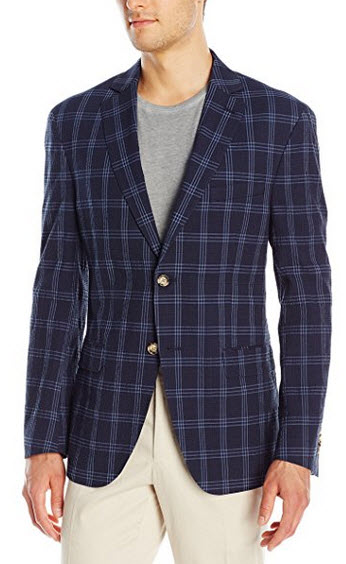 Franklin Tailored Men's Modern Windowpane-Check Newton Sport Coat .