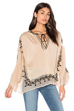 Free People Women's Eden Embroidered Peasant Top