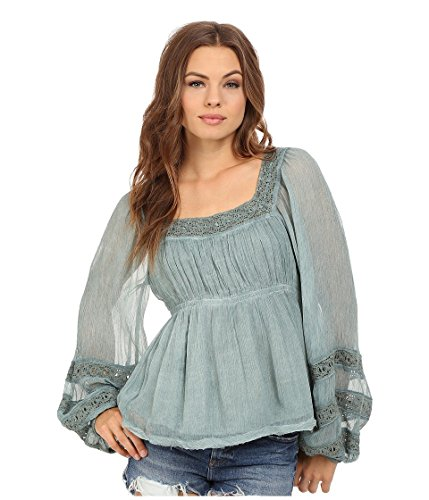 Free People Women's Moonchaser Peasant Top