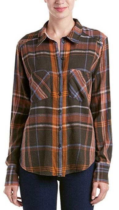 Free People Women's 'Wesley' Plaid Flannel Boyfriend Shirt