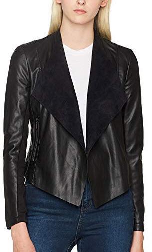 French Connection Women's Stephanie PU Jacket black