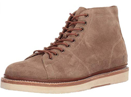 Frye Mens Bryant Lace-Up Dark Ash Oiled Suede