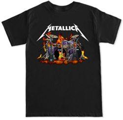 FTD Apparel Men's Metallica Rock Band T Shirt