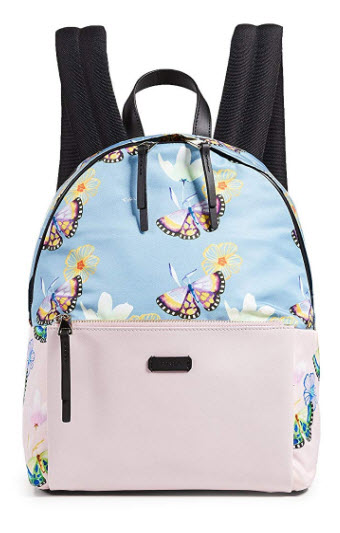 Furla Women's Giudecca Small Backpack, Toni Veronica Camelia, Blue, Print, One Size
