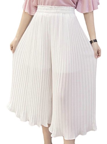 GAGA Women High wast Stylish Foldback Chiffon Palazzo Pants