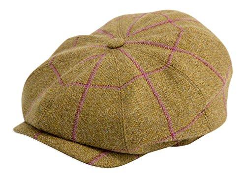 Gamble & Gunn 'Argyle' British Made Tweed 8 Panel Button Top Cap