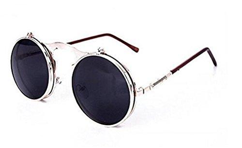 GAMT New Round Circle Steampunk Sunglasses UV400