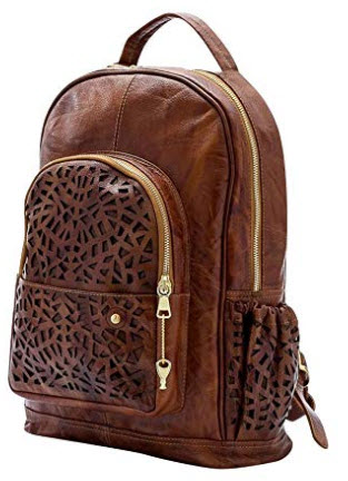Gaspy Alex Women's Backpack (Honey) – Handmade from 100 Percent Genuine Colombian Le ...