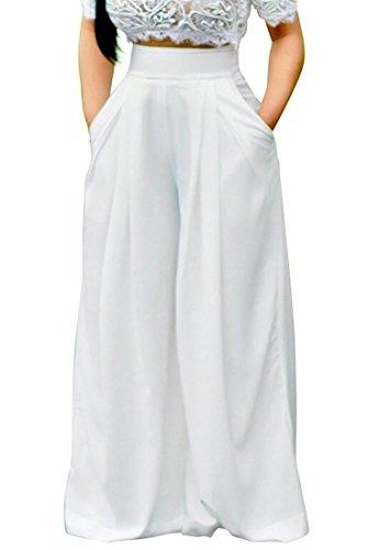 Generic Women Chiffon High Waist Wide Leg Palazzo Longue Pants by GenericWomen