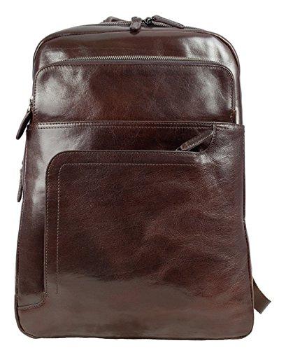 Genuine Leather Backpack, Leather backpack Medium Dark Brown – Time Resistance