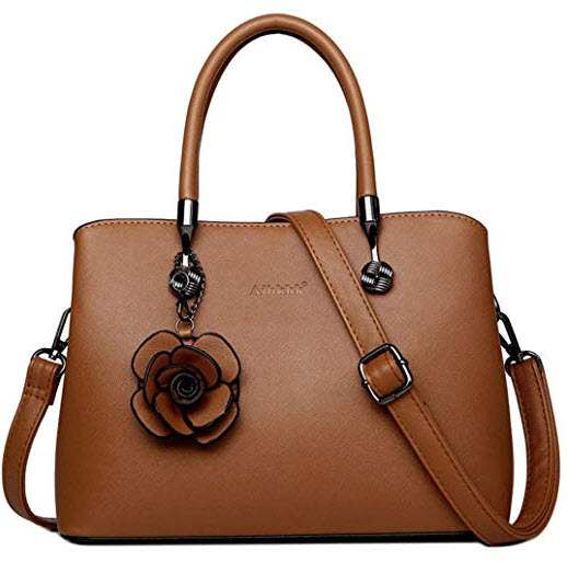 Genuine Leather Crossbody Bags For Women Handbags Ladies Shoulder Bag Tote S9181-Brown