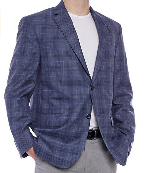 Geoffrey Beane 2 button plaid sport jacket.