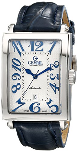 "Gevril Men's 5007A ""Avenue of America"" Stainless Steel Automatic Watch with Bl ..."