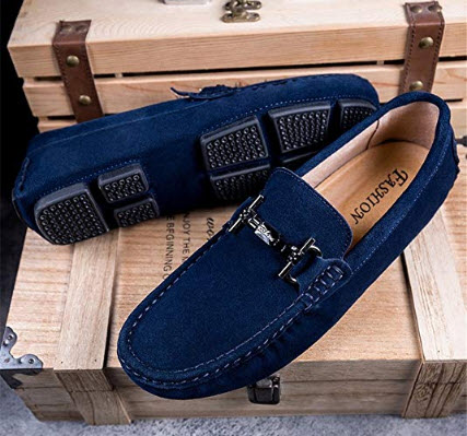Gobling Men's Casual Loafer Shoes Breathable Suede Boat Moccasins Slip on Driving Loafers  ...