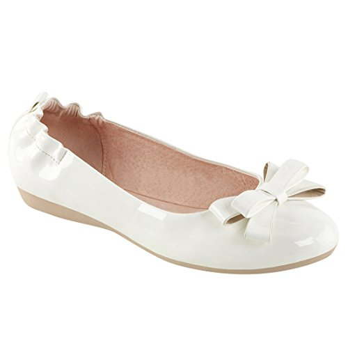Gobling Women's Cute Dress Flats Elasticated Heel and Bow Foldable Ballet Flats For Ladies