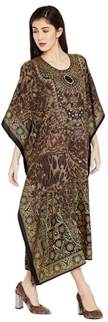 Goood Times Burgundy Paisley Long Kaftan Kimono Maxi Dress Plus Size Caftan Gown Nightdress for  ...