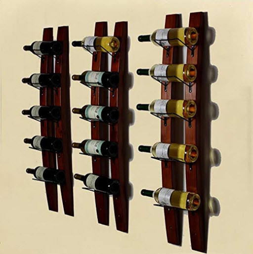 GSHWJS Solid Wood Wall-Mounted Wine Rack Rack Modern Minimalist Living Room Dining Wine Rack Win ...