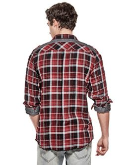 GUESS Factory Men's Rider Plaid Flannel Shirt
