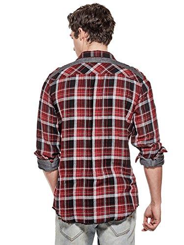GUESS Factory Men's Rider Plaid Flannel Shirt