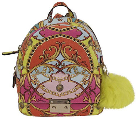 GUESS Jori Printed Bowery Backpack, coral multi