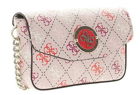 GUESS Landon Multi Belt Bag, blush multi