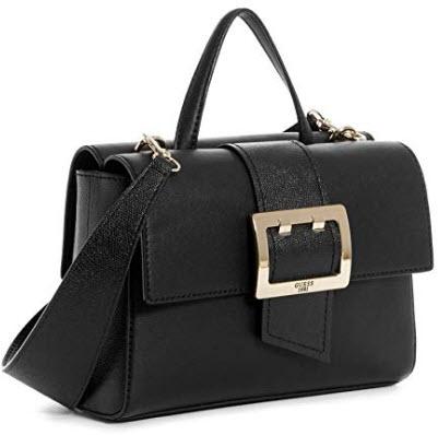 Guess Tori Ladies Small PU Leather Shoulder Bag VG685618BLA