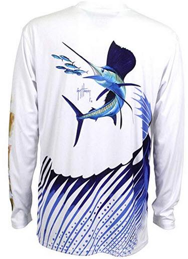 Guy Harvey Ultra Pro UVX Sailfish Performance LS T-Shirt white