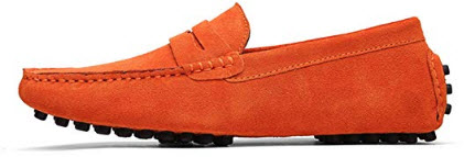 Habitaen Men Casual Suede Leather Loafers Black Solid Leather Driving Moccasinsslip On Men Loafe ...