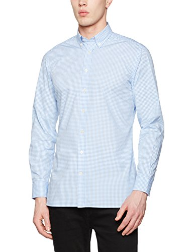 Hackett London Men's Gingham Mult Tri Logo Casual Shirt
