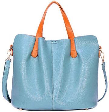 HAOSHIDUO Women Top Handle Satchel Handbags Shoulder Bag Tote Purse Messenger Bags, blue