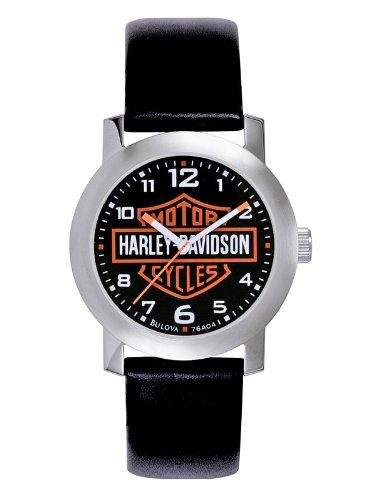 Harley Davidson Bulova Mens Bar & Shield Logo Watch.