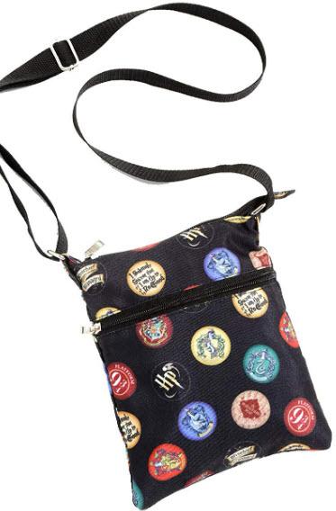 Harry Potter Badges & Icons Passport Crossbody Bag